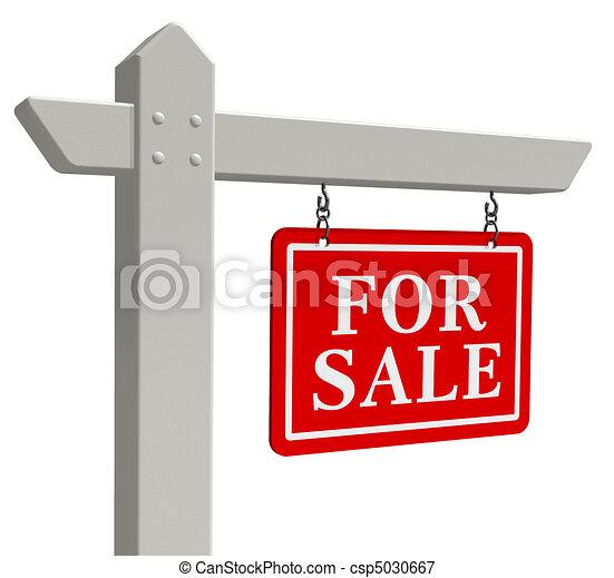 """""""en venta"""" signo de bienes raíces - csp5030667"""