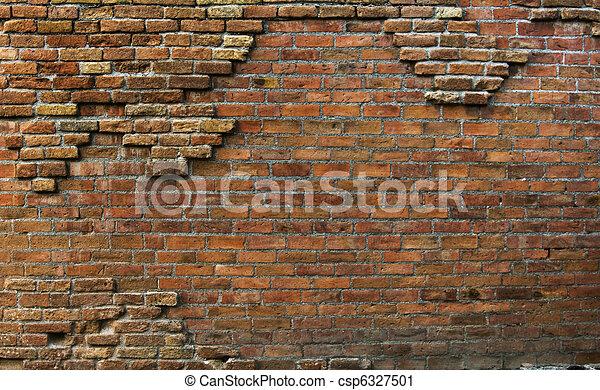Una hermosa y vieja pared de fondo oxidada - csp6327501