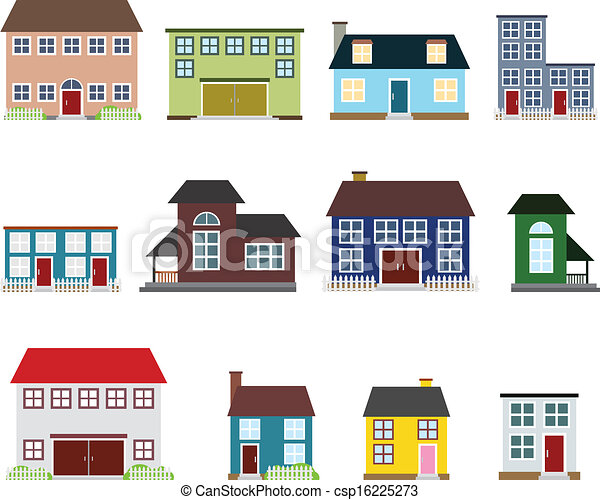 Íconos de bienes raíces Vector - csp16225273