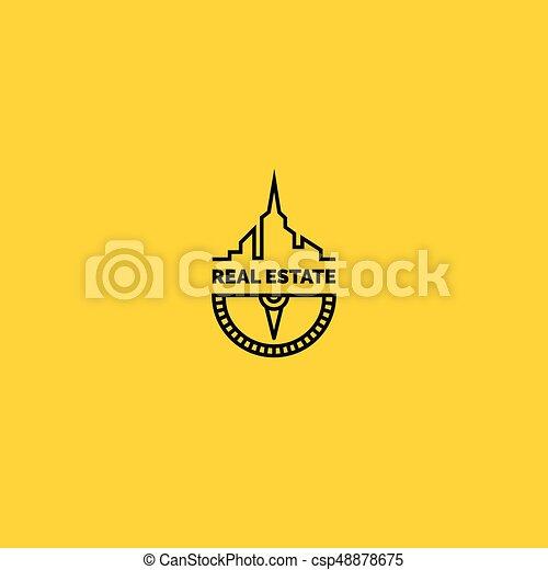 Logotipo de bienes raíces - csp48878675