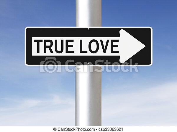 Amor verdadero de esta manera - csp33063621