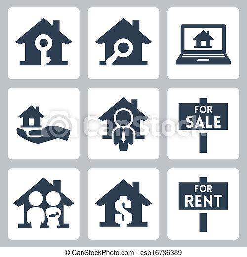 Vector inmobiliarios establecidos - csp16736389