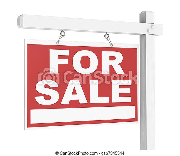 Bienes raíces a la venta - csp7345544