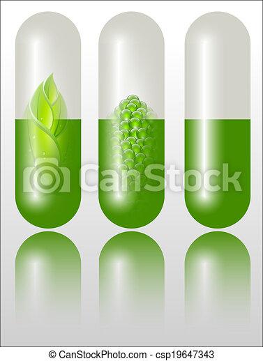 verde, alternativa, conceito, medicação - csp19647343
