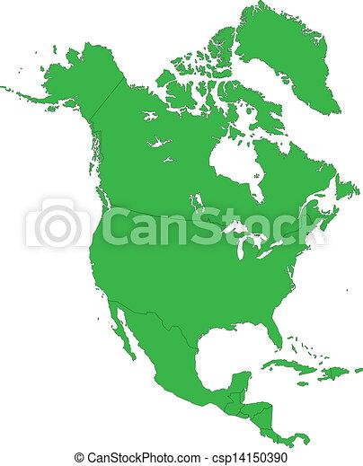 verde, america, nord, mappa - csp14150390