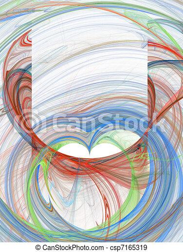 verde azul, diseño abstracto, rojo - csp7165319
