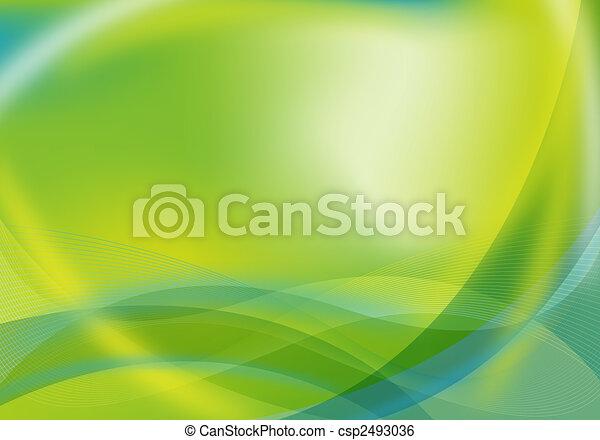 verde azul, diseño abstracto, / - csp2493036
