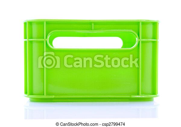 Caja verde vacía - csp2799474