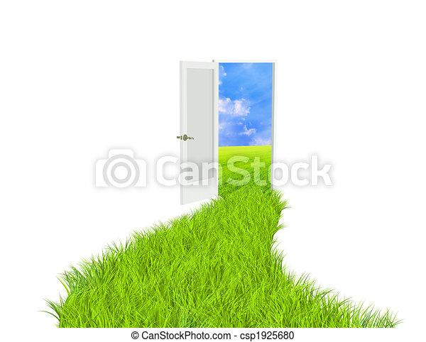 Camino verde - csp1925680
