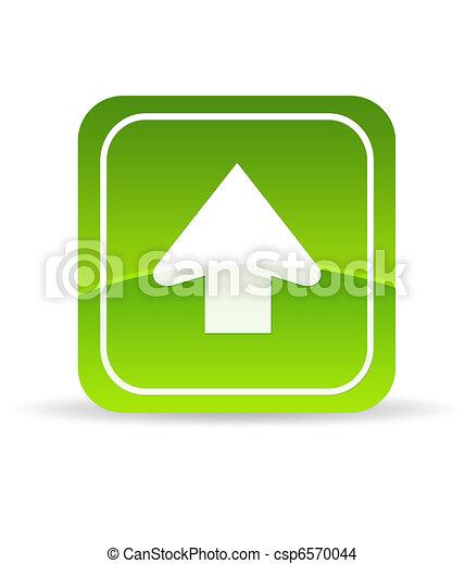 Un icono de carga verde - csp6570044