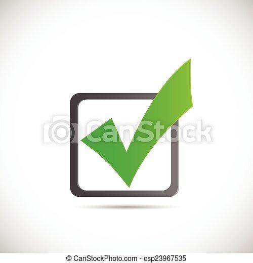 Ilustración de marca verde - csp23967535