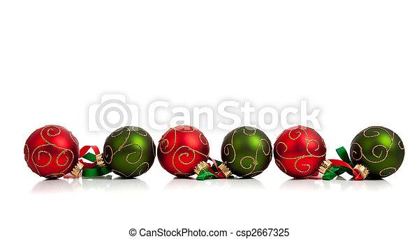 Decorados rojos y verdes con cinta blanca - csp2667325