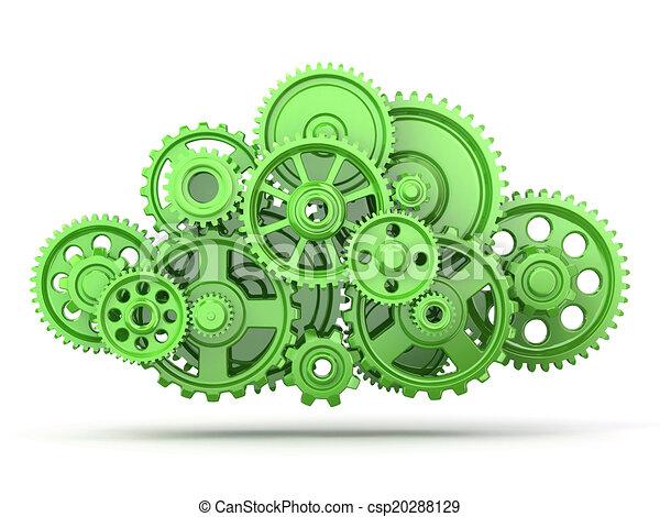 Engranajes verdes - csp20288129