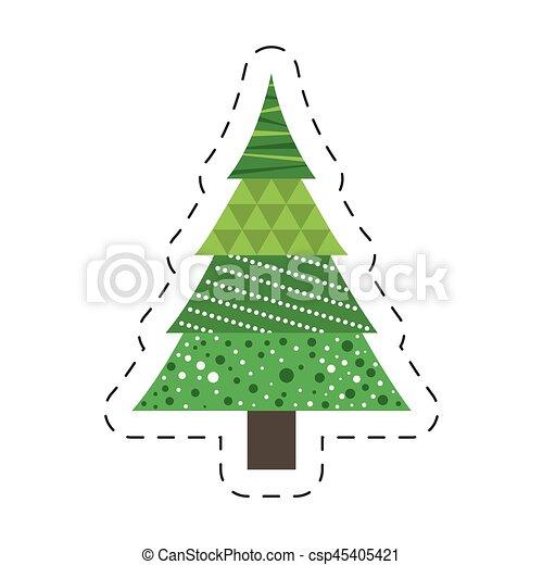Pino De Navidad En Dibujo Regalos Populares De Navidad