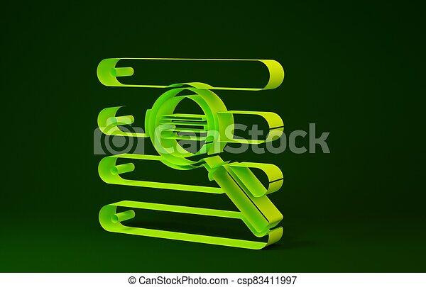 verde, minimalismo, ricerca, render, isolato, fondo., giallo, browser, illustrazione, concept., 3d, icona, finestra - csp83411997