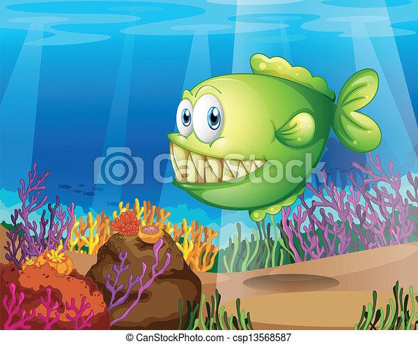 verde, piranha - csp13568587