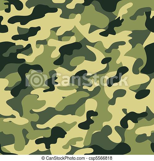 verde, seamless, camuflaje - csp5566818