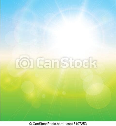 verde, soleggiato, fondo - csp18197253