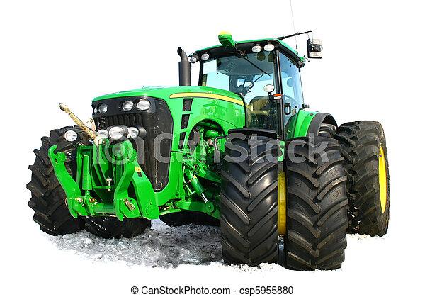 tractor verde - csp5955880
