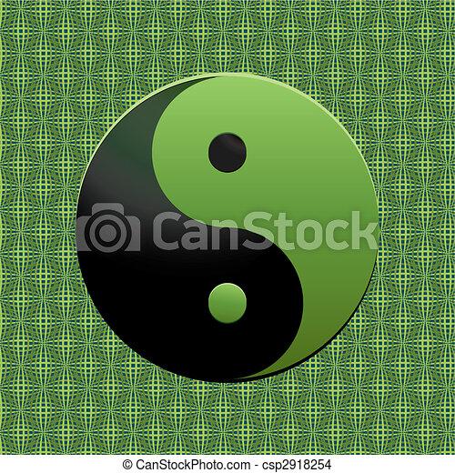 Verde ying-yang - csp2918254