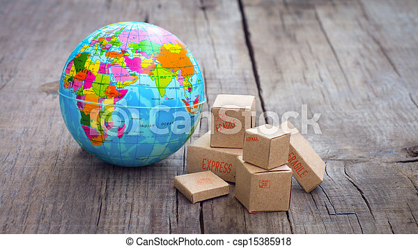verden, eksporter, import - csp15385918