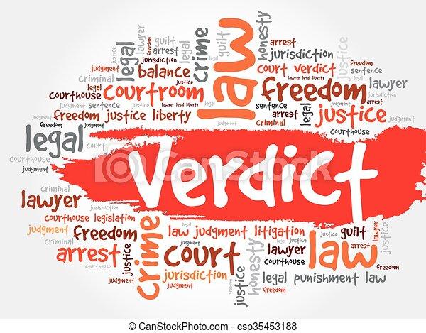 Verdict word cloud - csp35453188