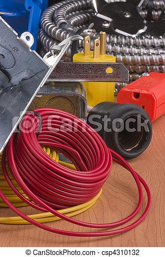 Verdrahtung. Draht, nächste, ausrüstung, schalter, installation ...