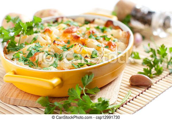 verdura, cotto, torta, forno - csp12991730
