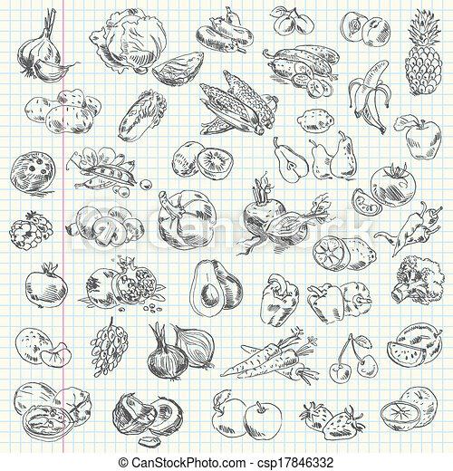 verdura, frutta - csp17846332