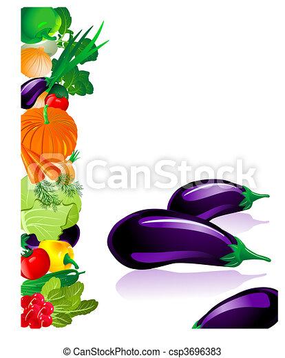 verdura, melanzana - csp3696383
