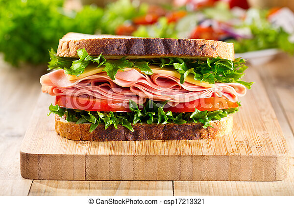 verdura, panino, pancetta affumicata - csp17213321