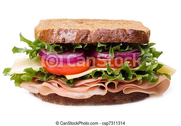 verdura, panino, pancetta affumicata - csp7311314