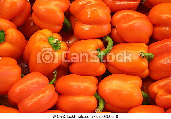 verdura, pepe arancia, -, campana - csp0280640