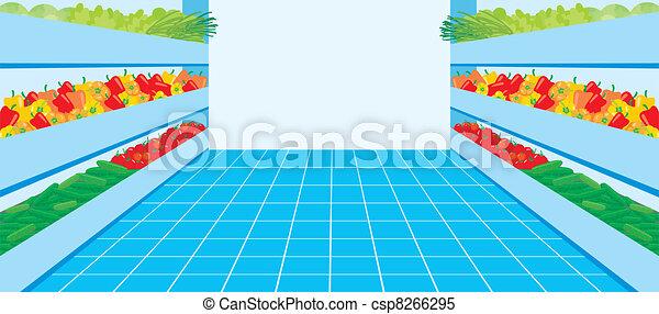 verdura, supermarket., numero - csp8266295