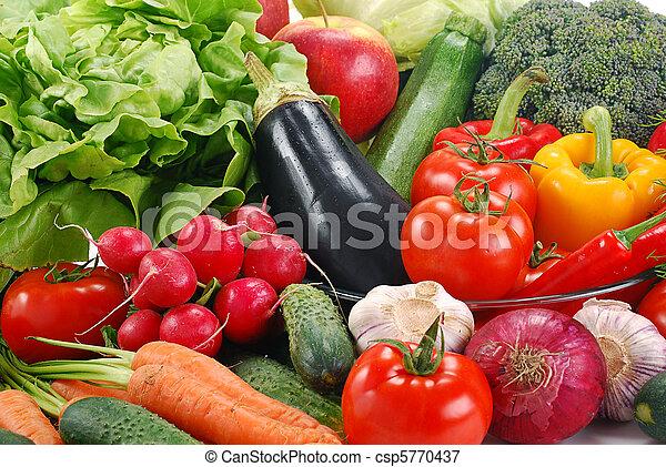 La variedad de las verduras crudas - csp5770437