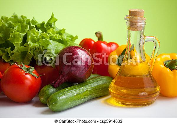 verduras frescas, naturaleza muerta - csp5914633
