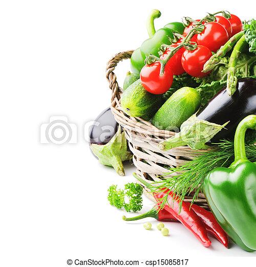 Verduras orgánicas frescas - csp15085817