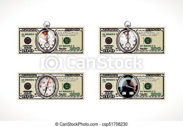 Vereint, geld, dollar, -, eins, staaten, währung, zeit, hundert.