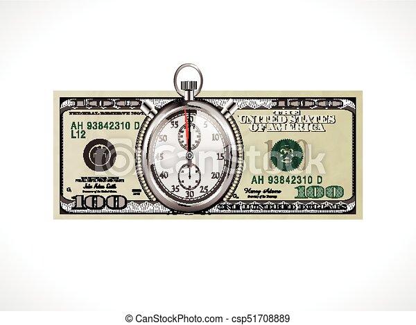 Vereint, geld, dollar, -, eins, staaten, währung, begriff,... Vektor ...