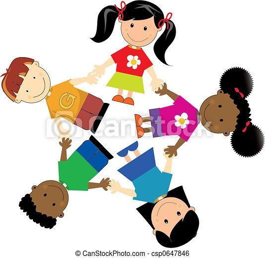 Vereinigte Kinder - csp0647846