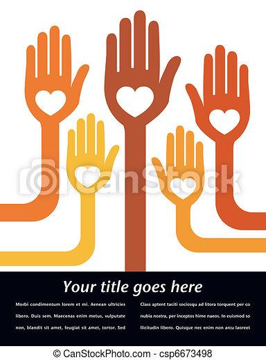 verenigd, mensen, design. - csp6673498