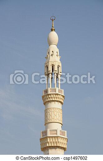 verenigd, moskee, arabier, emiraten, minaret, dubai - csp1497602