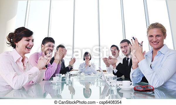 vergadering, groep, zakenlui - csp6408354