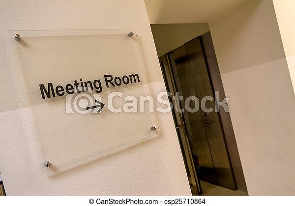 vergaderruimte, meldingsbord - csp25710864