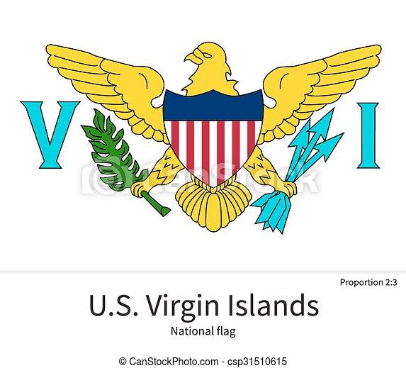 Verhältnisse National Farben Uns Jungfrau Fahne Inseln