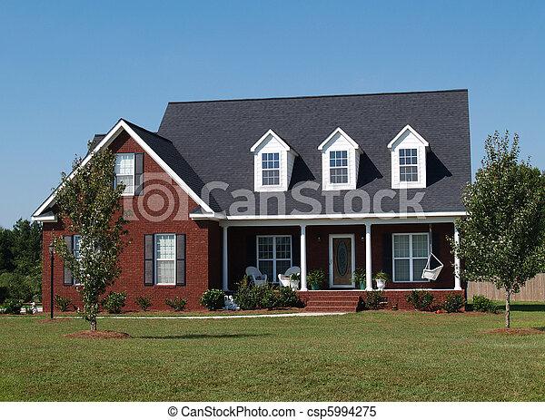verhaal, twee, thuis, woongebied - csp5994275