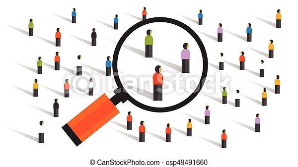 verhalten, messen, statistik, crowd, probend, gesellschaft, versuch, sozial, forschung, bevoelkerung - csp49491660