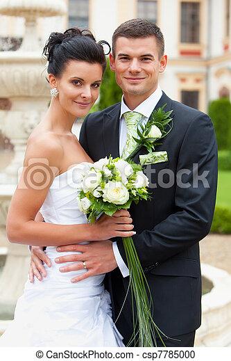 verheiratet, frohes ehepaar, junger - csp7785000