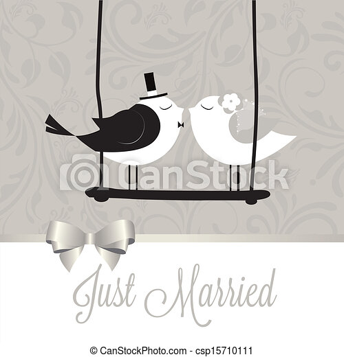 verheiratet, vögel, gerecht - csp15710111