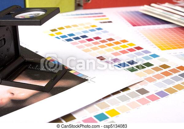verificar, lupe, impresión - csp5134083